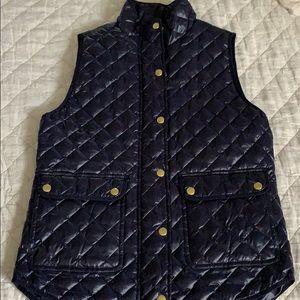 J. Crew Navy Puffer Vest